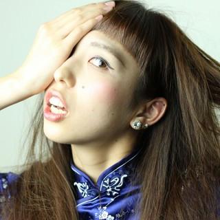 パーマ セクシー モード ストレート ヘアスタイルや髪型の写真・画像