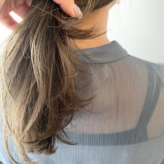 極細ハイライト 透明感カラー 透明感 大人ハイライト ヘアスタイルや髪型の写真・画像
