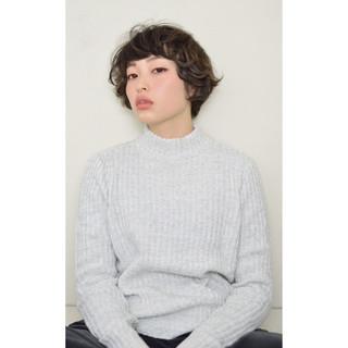 パーマ ボブ 色気 黒髪 ヘアスタイルや髪型の写真・画像