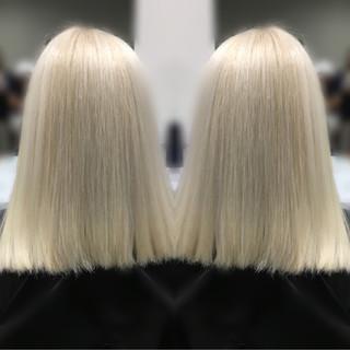 ストリート ハイライト 外国人風 ブリーチ ヘアスタイルや髪型の写真・画像