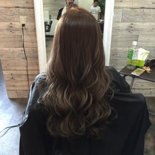 ベージュ 外国人風 ロング 渋谷系 ヘアスタイルや髪型の写真・画像