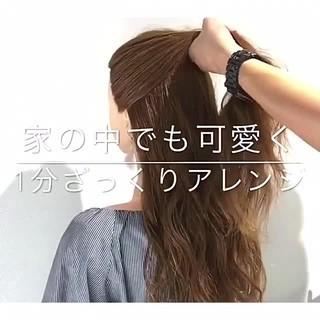 ロング アウトドア ヘアアレンジ ショート ヘアスタイルや髪型の写真・画像