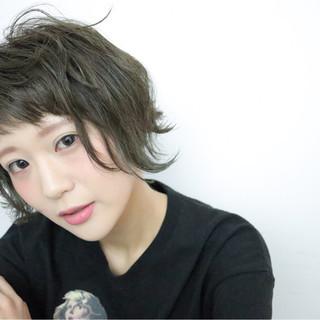 小顔 ショート 色気 暗髪 ヘアスタイルや髪型の写真・画像