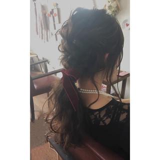 ヘアアレンジ 簡単ヘアアレンジ セミロング ショート ヘアスタイルや髪型の写真・画像 ヘアスタイルや髪型の写真・画像