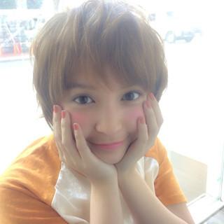 ストリート 小顔 ベージュ カーキ ヘアスタイルや髪型の写真・画像