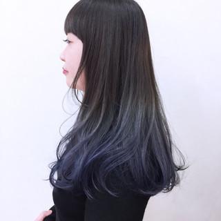 前髪あり ニュアンス モード 暗髪 ヘアスタイルや髪型の写真・画像