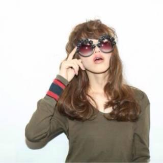 秋 セミロング ウェーブ ゆるふわ ヘアスタイルや髪型の写真・画像