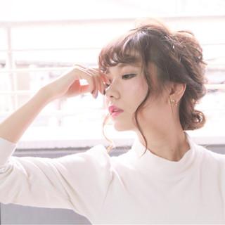 ヘアアレンジ モテ髪 大人かわいい フェミニン ヘアスタイルや髪型の写真・画像