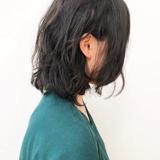 ボブ パーマ 無造作パーマ  ヘアスタイルや髪型の写真・画像