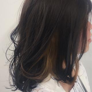 ブリーチ インナーカラー ストリート ベージュ ヘアスタイルや髪型の写真・画像