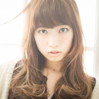 ゆるふわ モテ髪 グラデーションカラー フェミニン ヘアスタイルや髪型の写真・画像