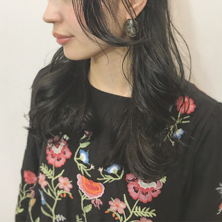 ハイライト オフィス セミロング 外国人風 ヘアスタイルや髪型の写真・画像
