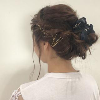 ヘアアレンジ 簡単ヘアアレンジ 三つ編み デート ヘアスタイルや髪型の写真・画像