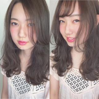 フェミニン ダブルバング ショート ガーリー ヘアスタイルや髪型の写真・画像