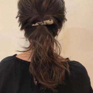 ガーリー オフィス 結婚式 ヘアアレンジ ヘアスタイルや髪型の写真・画像