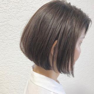 ミルクティーベージュ 髪質改善カラー ヘアアレンジ グレージュ ヘアスタイルや髪型の写真・画像