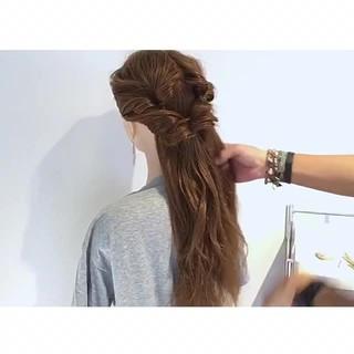 ロング くるりんぱ 簡単ヘアアレンジ エレガント ヘアスタイルや髪型の写真・画像 ヘアスタイルや髪型の写真・画像