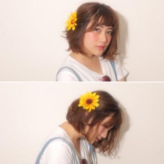 夏 パーマ ショート 簡単ヘアアレンジ ヘアスタイルや髪型の写真・画像 ヘアスタイルや髪型の写真・画像