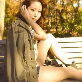 モテ髪 ナチュラル ミディアム 大人かわいい ヘアスタイルや髪型の写真・画像 ヘアスタイルや髪型の写真・画像