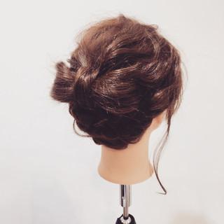 簡単ヘアアレンジ ヘアアレンジ セミロング ショート ヘアスタイルや髪型の写真・画像 ヘアスタイルや髪型の写真・画像