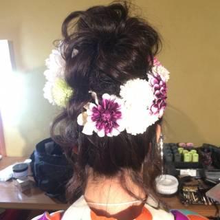 お祭り ルーズ 夏 ヘアアレンジ ヘアスタイルや髪型の写真・画像 ヘアスタイルや髪型の写真・画像