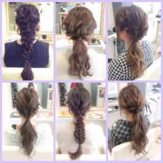 ロング 簡単ヘアアレンジ ローポニーテール ヘアアレンジ ヘアスタイルや髪型の写真・画像 ヘアスタイルや髪型の写真・画像