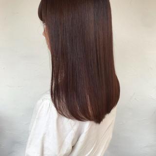 ロング チョコレート 髪質改善トリートメント 髪質改善 ヘアスタイルや髪型の写真・画像