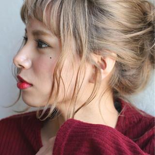 ヘアアレンジ ハイライト ショート ミディアム ヘアスタイルや髪型の写真・画像