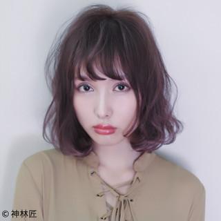 前髪あり 色気 フェミニン ストリート ヘアスタイルや髪型の写真・画像