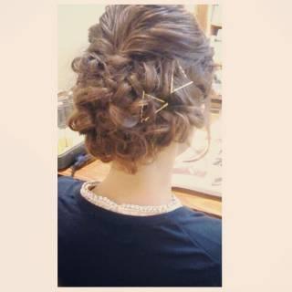 結婚式 コンサバ 二次会 ヘアアレンジ ヘアスタイルや髪型の写真・画像