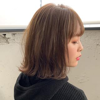 インナーカラー 切りっぱなしボブ モテボブ ボブ ヘアスタイルや髪型の写真・画像