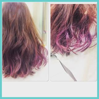 モテ髪 セミロング ストリート フェミニン ヘアスタイルや髪型の写真・画像