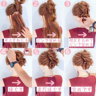涼しげ ヘアアレンジ 簡単ヘアアレンジ 女子会 ヘアスタイルや髪型の写真・画像
