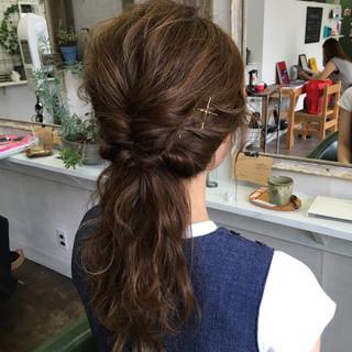 夏 フェミニン デート ロング ヘアスタイルや髪型の写真・画像
