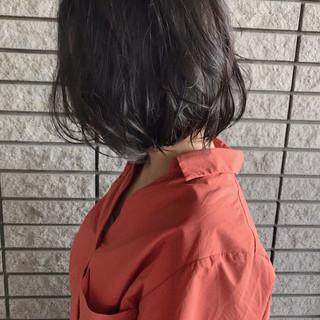アンニュイ ストリート ボブ 透明感 ヘアスタイルや髪型の写真・画像
