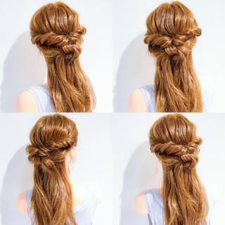 女子会 ヘアアレンジ フェミニン ロング ヘアスタイルや髪型の写真・画像