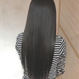 イルミナカラー 黒髪 ハイライト ロング ヘアスタイルや髪型の写真・画像