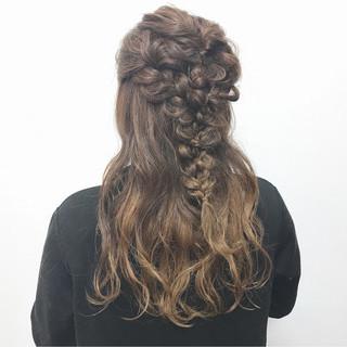 女子会 結婚式 ヘアアレンジ ロング ヘアスタイルや髪型の写真・画像