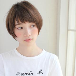 前髪あり スポーツ ナチュラル 大人女子 ヘアスタイルや髪型の写真・画像