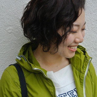 ストリート ヘアワックス くせ毛風 ボブ ヘアスタイルや髪型の写真・画像