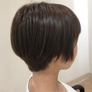ミニボブ ボブ ナチュラル イルミナカラー ヘアスタイルや髪型の写真・画像