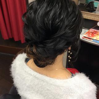 結婚式ヘアアレンジ 結婚式 ミディアム 結婚式髪型 ヘアスタイルや髪型の写真・画像