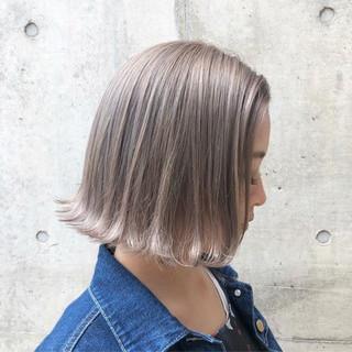 ストリート バレイヤージュ 外国人風カラー グレージュ ヘアスタイルや髪型の写真・画像