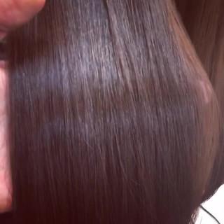 レッド ロング 上品 エレガント ヘアスタイルや髪型の写真・画像