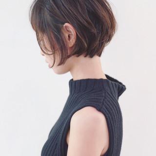 ナチュラル 女子力 ショート グラデーションカラー ヘアスタイルや髪型の写真・画像 ヘアスタイルや髪型の写真・画像