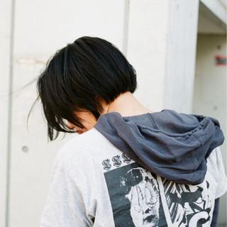 アウトドア 透明感 ボブ 抜け感 ヘアスタイルや髪型の写真・画像