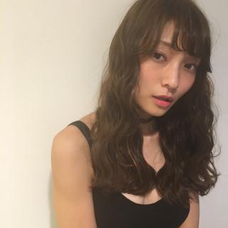 ガーリー ピュア ロング パーマ ヘアスタイルや髪型の写真・画像