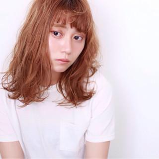 ピュア おフェロ 外国人風 ミディアム ヘアスタイルや髪型の写真・画像