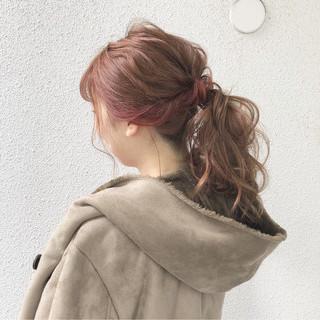 ポニーテール デート ナチュラル ヘアアレンジ ヘアスタイルや髪型の写真・画像 ヘアスタイルや髪型の写真・画像