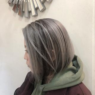 ハイライト グラデーションカラー バレイヤージュ インナーカラー ヘアスタイルや髪型の写真・画像